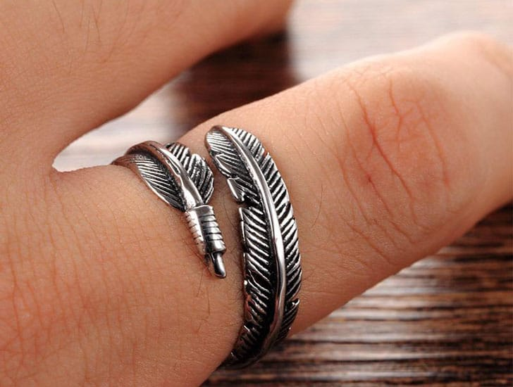 Resizable Feather Rings