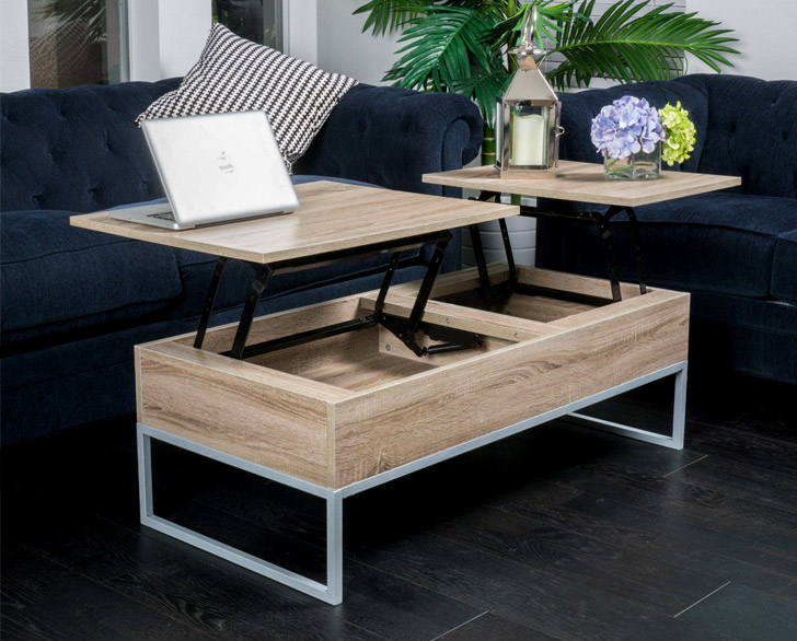 Rustic Modern Storage Coffee Table