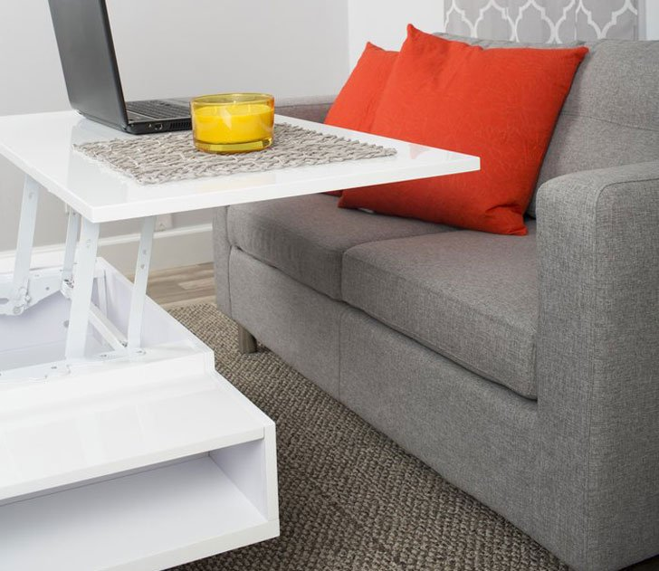 Seraphina White Lift-Top Coffee Table
