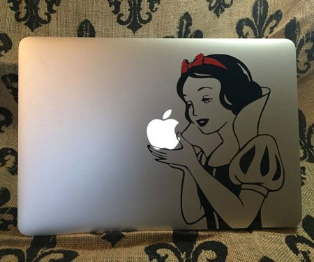 Snow White MacBook Sticker