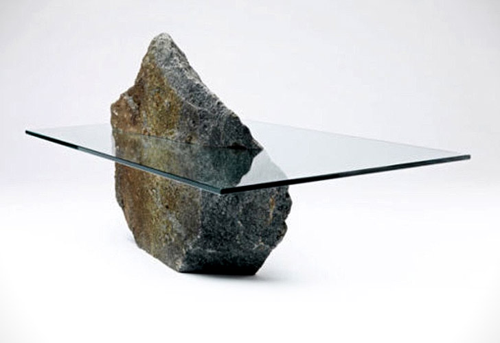 Stone Base Coffee Table