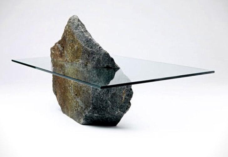 Stone Base Coffee Table