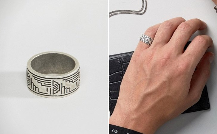 The Aztec Pinkie Ring