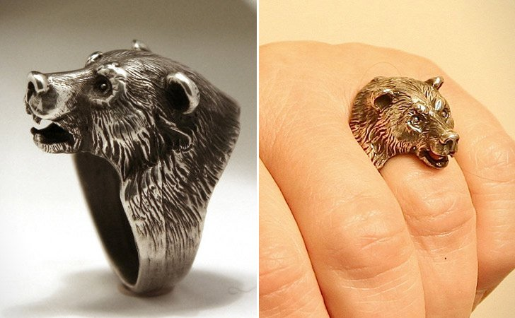 The Bear Head Ring