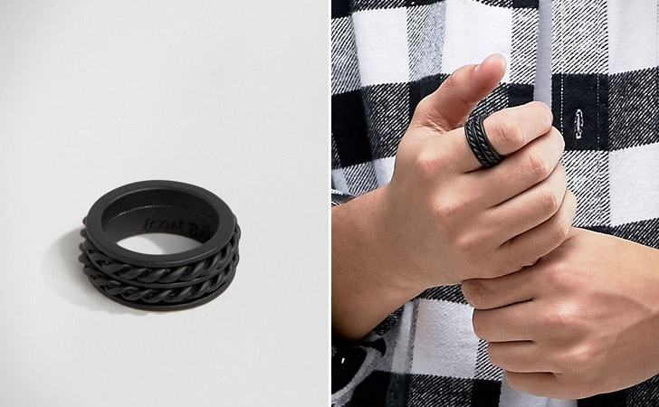 The Black Double Rope Ring