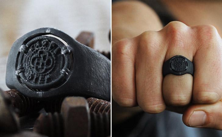 The Carpe Diem Black Ring - Cool Rings For Men