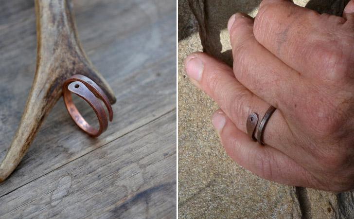 The Copper Snake Ring - Cool Rings For Men