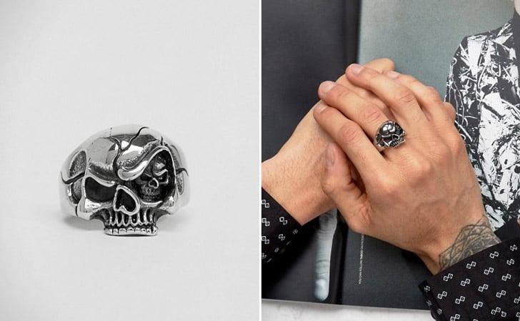 The Funny Skull Ring - Cool Rings for Men