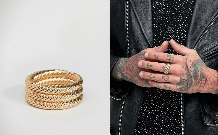 The Golden Coil Ring