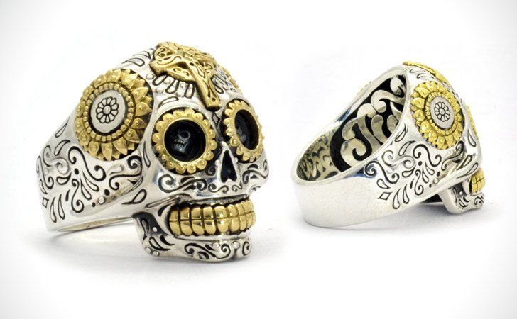 The Mexican Sugar Skull Ring - Cool Rings For Men