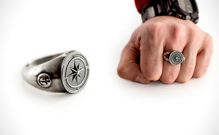 The Nautical Compass Ring - Cool Rings For Men