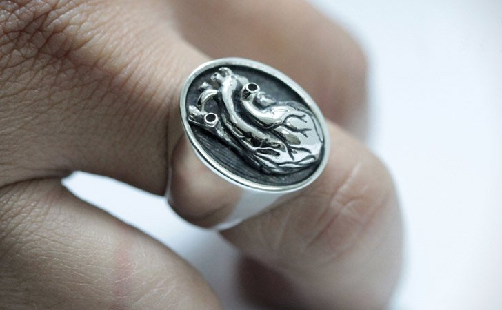 The Realistic Heart Ring - Cool Rings For Men