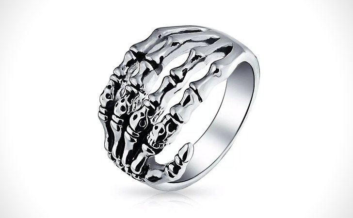 The Skeleton Hand Ring