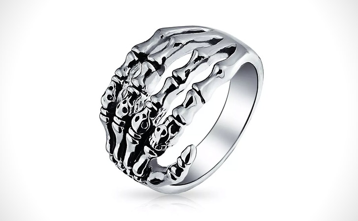 The Skeleton Hand Ring
