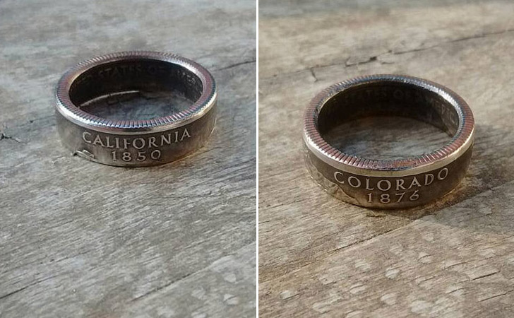 The State Quarter Coin Ring