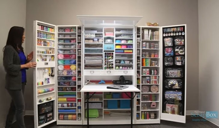 Craft Organizer Cabinet