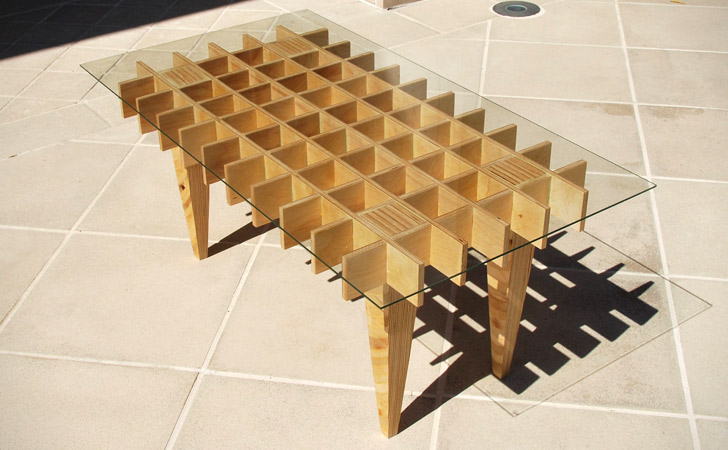 The Waffle Coffee Table