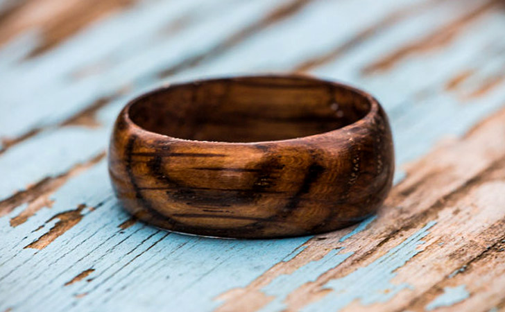 The Whiskey Barrel Wooden Ring