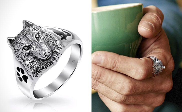 The Wolf Head Ring