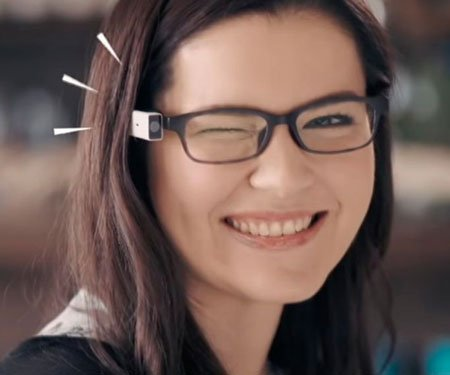 Wink Activation Camera Glasses