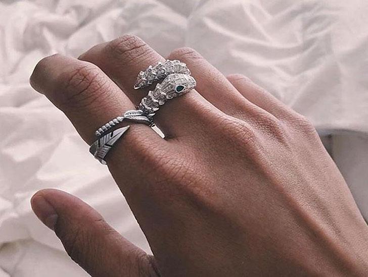 Mister Venom Silver Ring - Cool Rings for Men