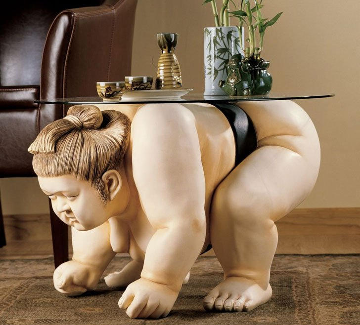Sumo Wrestler Coffee Table - Unique coffee tables