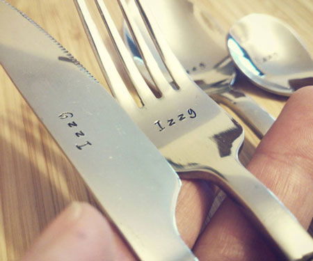 4-Piece Personalised Cutlery Set
