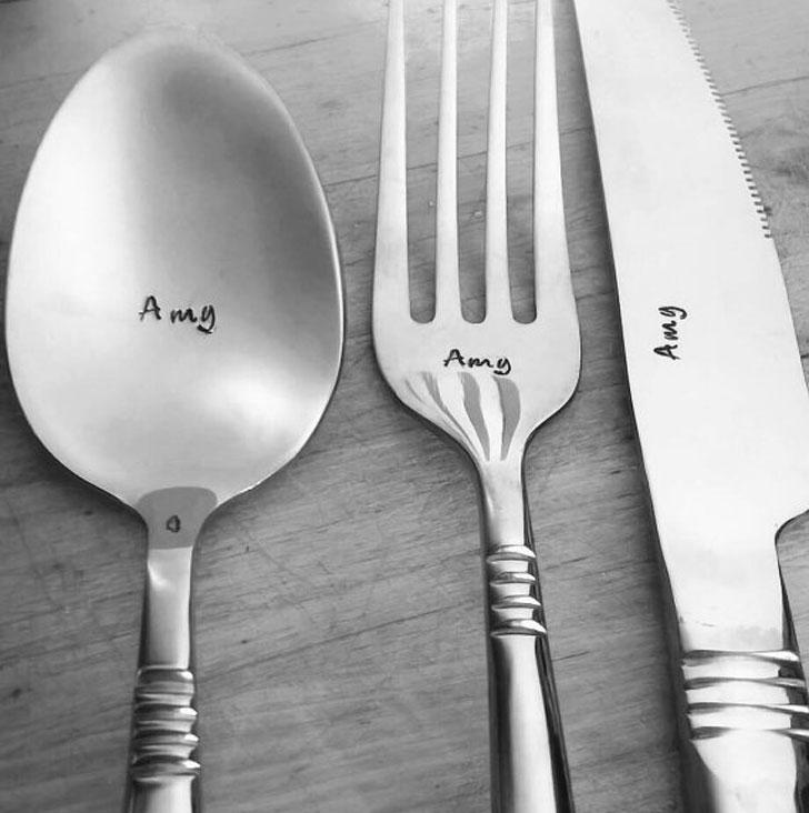 4-Piece Personalised Cutlery Set