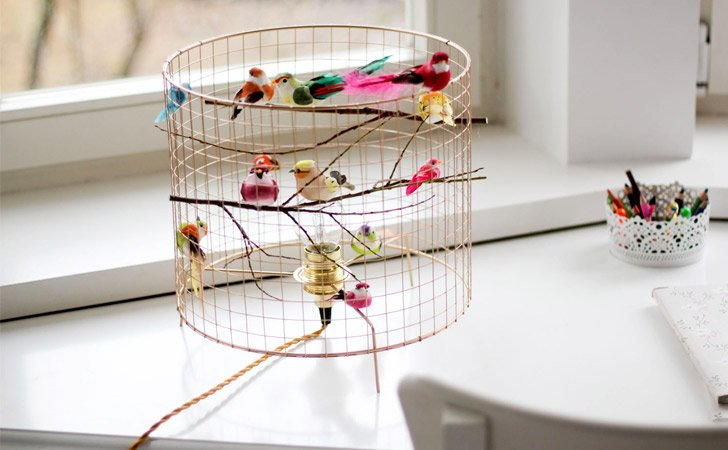 Bird Cage Table Lamp