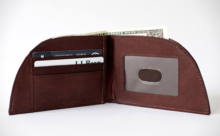 Bison Leather Front Pocket Wallet