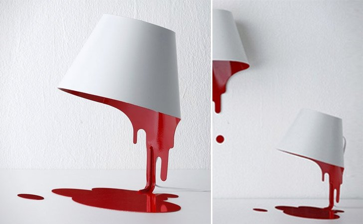 Bleeding liquid lamp