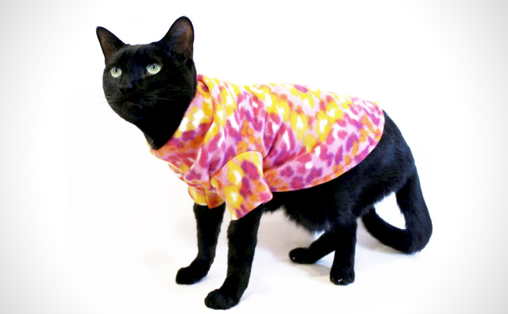 Bright Colored Cat Fleece Shirt