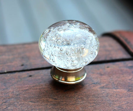 Bubble Effect Glass Drawer Knobs