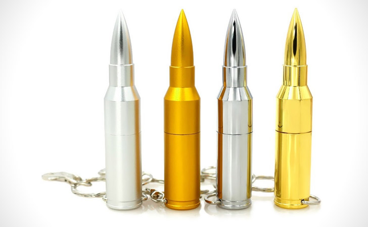 Bullet USB Keychains