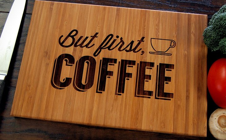 But First Coffee Cutting Board