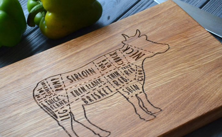 Butchers Cow Cutting Board