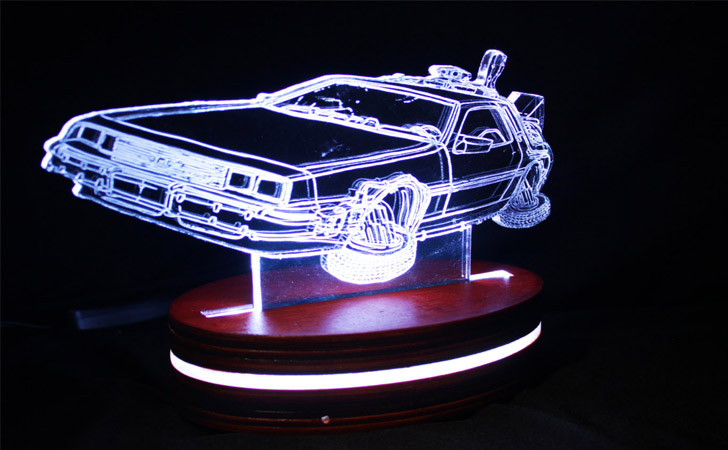 Color Changing DeLorean Table Lamp