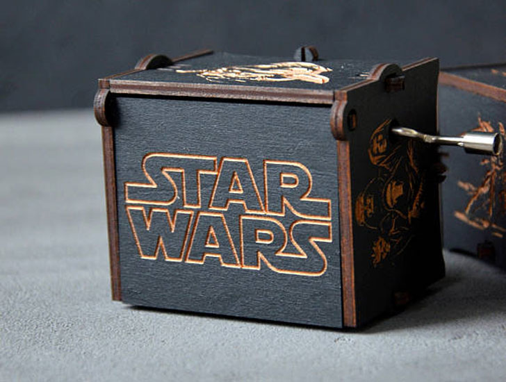 Custom Wooden Star Wars Music Box