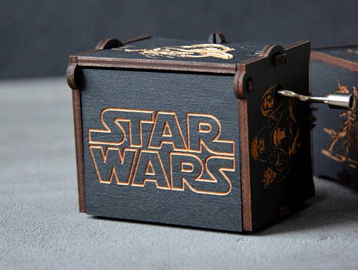 Custom Wooden Star Wars Music Box