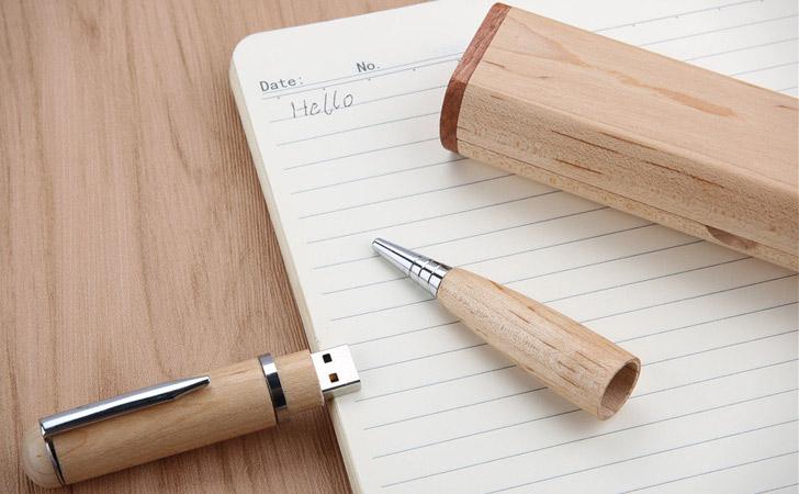 Customized Wooden Pen With Inbuilt USB Drive