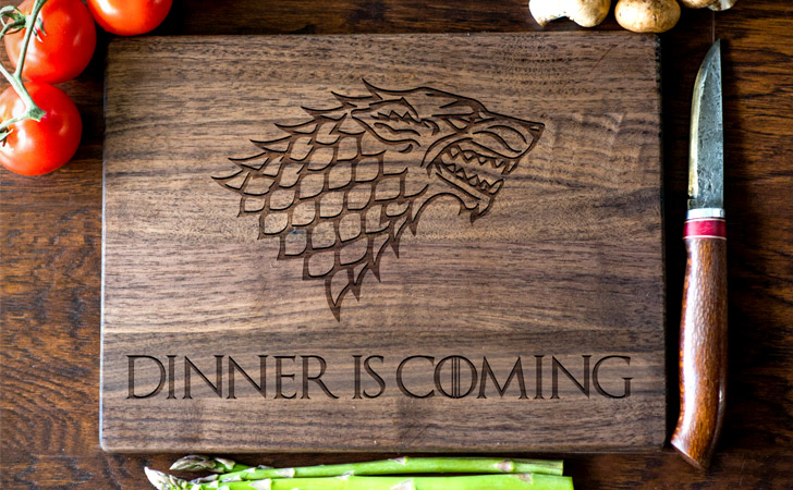 Dinner Is Coming Cutting Boards