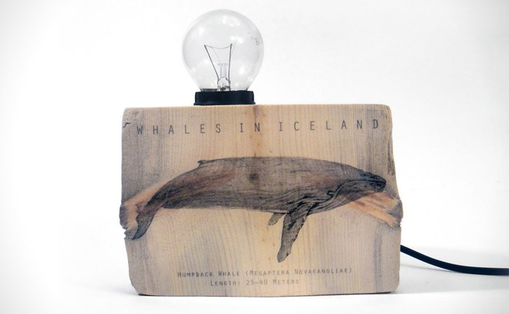 Driftwood Humpback Whale Table Lamp