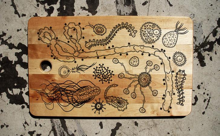 Ebola Epidemic Cutting Board - cool cutting board