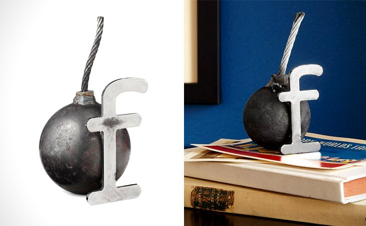 F-Bomb Paper Weight