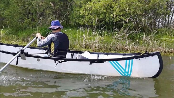 Foldable Origami Canoe