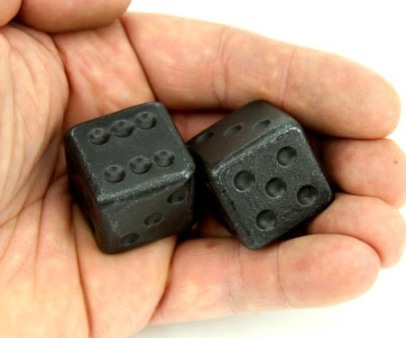 forged iron dice
