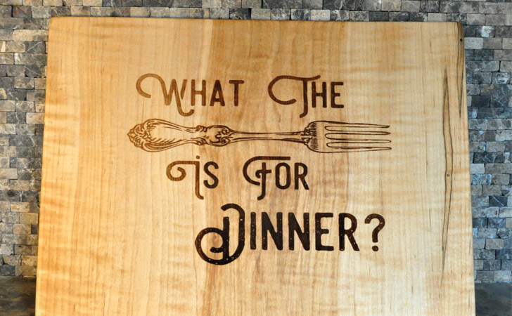 Funny What The Fork Is For Dinner Cutting Boards