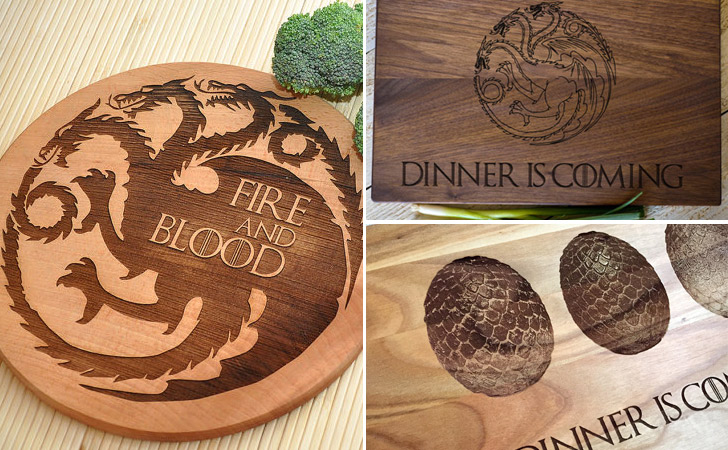 Game Of Thrones Targaryen Cutting Boards - cool cutting boards