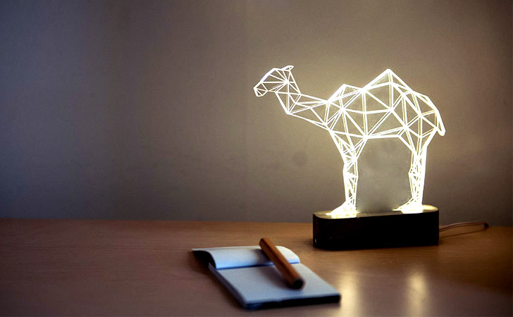 Geometric LED Camel Lamp