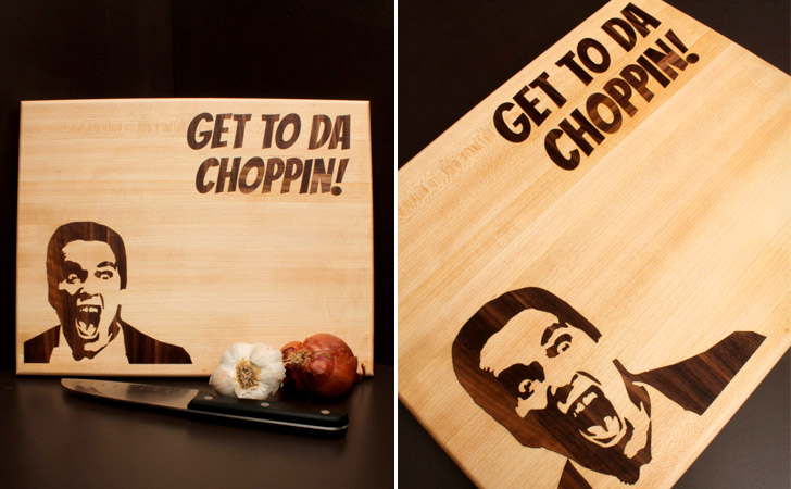 Get To To Da Chopping Arnold Cutting Board
